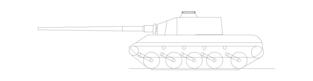 Panzerseitenaußenansicht