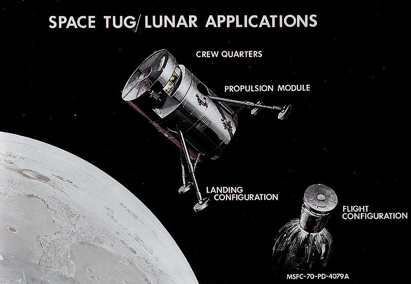Space Tug am Mond