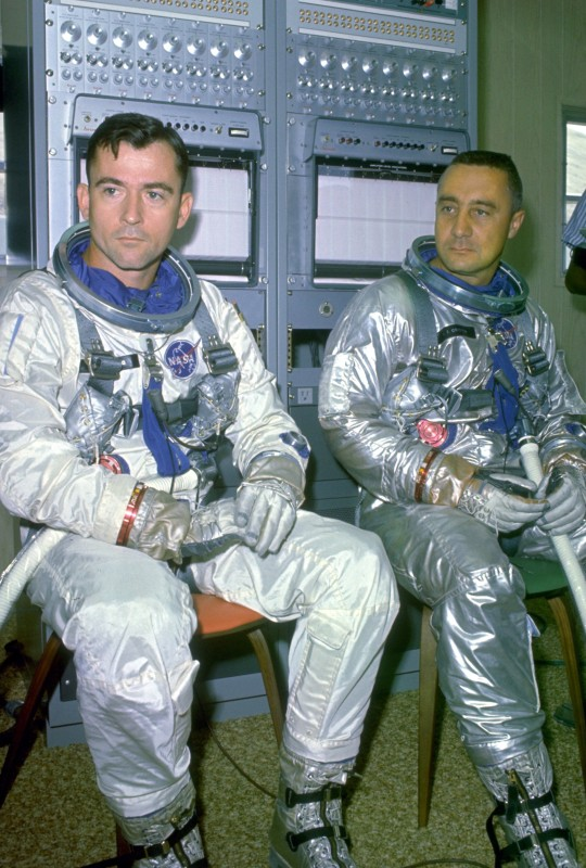 John Young und Gus Grissom